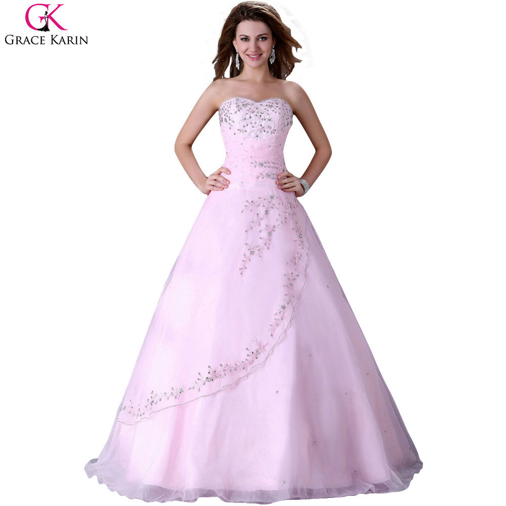 2015 princess grace karin strapless organza beads sequin for Plus size beaded wedding dresses