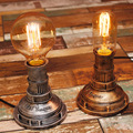 Loft Edison industrial retro wind personality water pipe lamp E27  Table Lamps For Bedroom 40w Bedside Lamp  Desk ligh