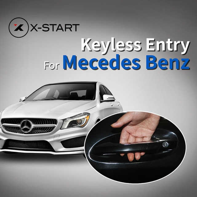 x start Smart Key with oem door handle oem keyless entry comfort access  module window roll up for Mercedes Benz class c s glc-in Burglar Alarm from