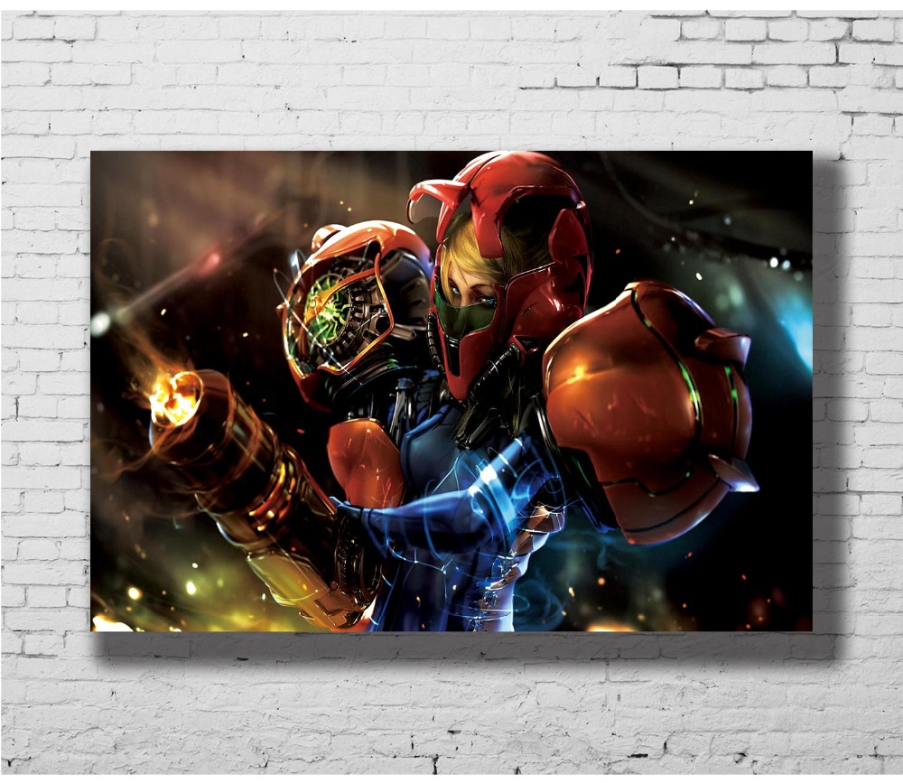 Metroid Prime Game Wall Sticker Home Decoration Silk Art Poster image