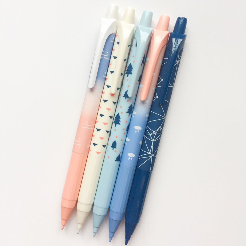 K47 3X Simple Cute Tree Press Mechanical Pencil School Office Supply Student Stationery Kid Automatic Pencil 0.7mm