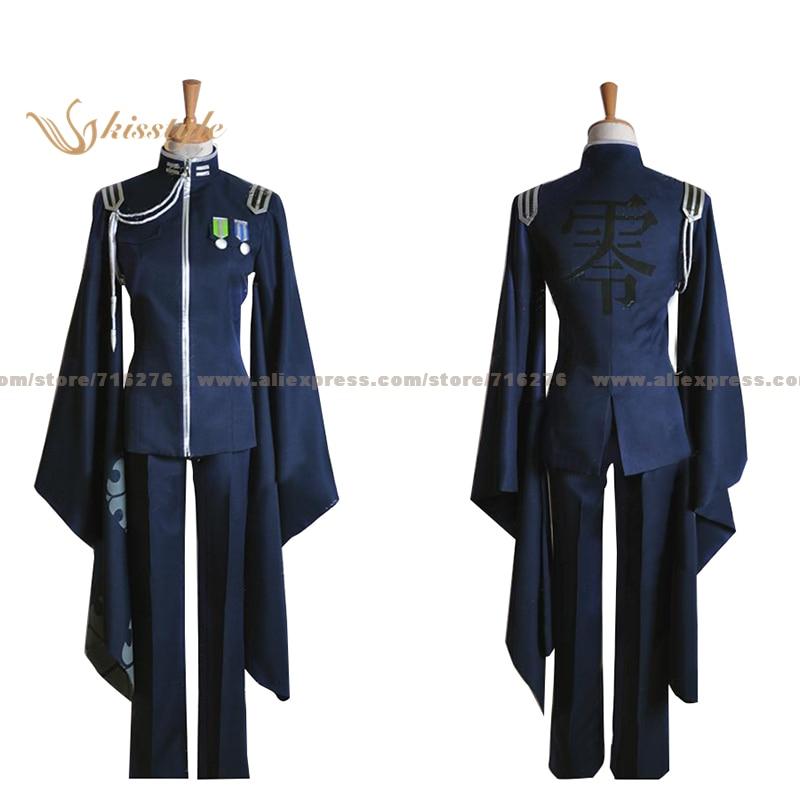 Kisstyle Fashion VOCALOID Hatsune Miku MEIKO Senbon Sakura Blue Uniform COS Clothing Cosplay Costume
