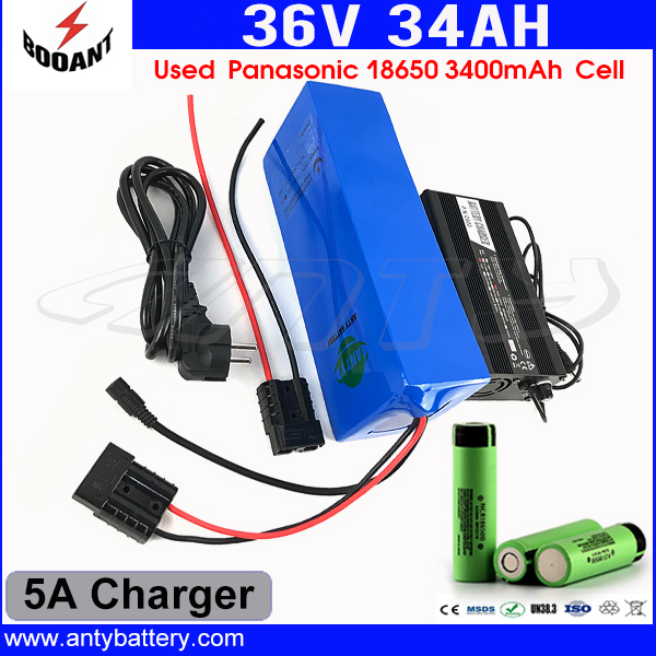 10S 10P Lithium Battery 36V 34Ah For Bafang Electric Bicycle Battery 36V 1500W Motor With 5A Charger 18650 Cell Free Shipping 30a 3s polymer lithium battery cell charger protection board pcb 18650 li ion lithium battery charging module 12 8 16v