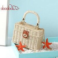 Портативная сумка с узорами, Женская Наклонная Сумка, женская сумка на плечо, соломенная плетеная, артикул, пакет, роскошные сумки для женщи