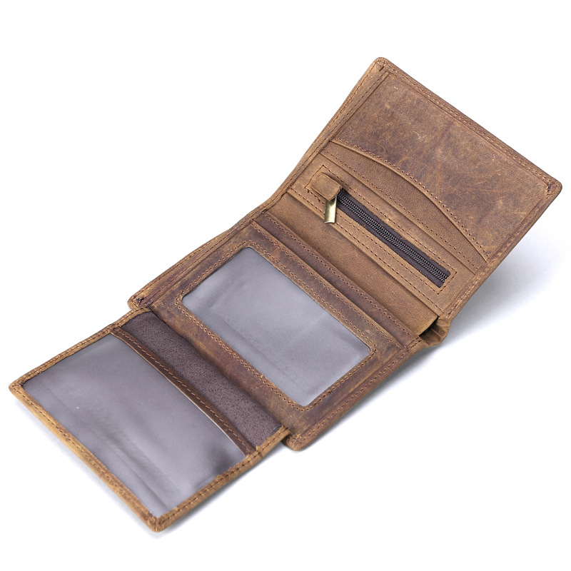 High Quality 100% Genuine Leather Wallet Men Business Credit Card Holder Fashion Retro Male Short Coin Purse Card holder 2014 fashion genuine leather men wallets business style long wallet high quality credit coin purse solid soft letter male pouch