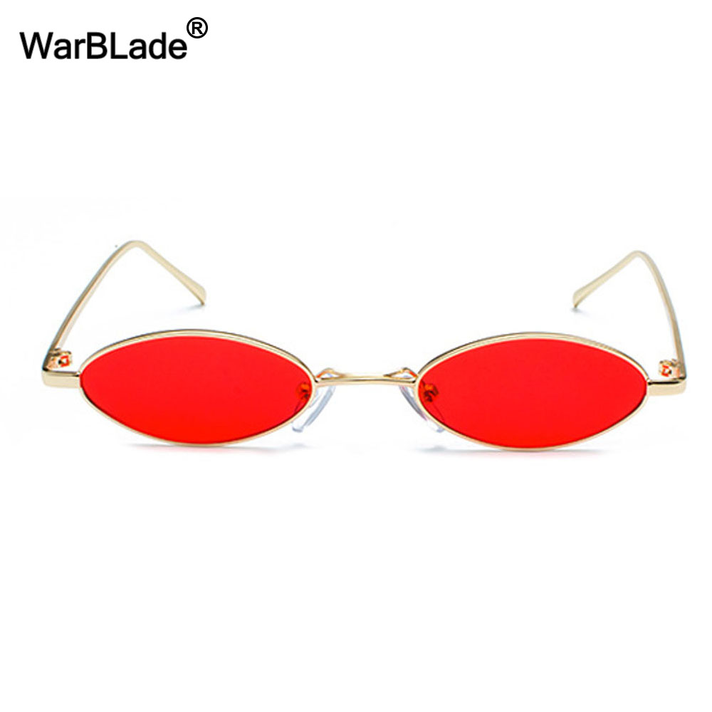 WarBLade Fashion Brand Designer Small Oval Sunglasses Women Men Clear Color Lenses Unisex Ellipse Sun Glasses For Female UV400