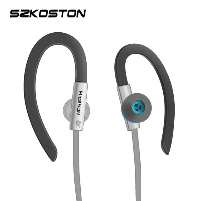 ספורט מוסיקה אוזניות עם מיקרופון 3.5MM אוזן אוזניות בס רעש מבטל ריצת אוזניות עבור xiaomi סמסונג Mp3