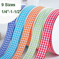 PPCrafts 5 6 9 13 16 19 22 25 38MM Gingham Ribbon High Quality For Wedding