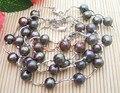 Wholesale 5 Pieces 11 MM Black Pearl Bracelets