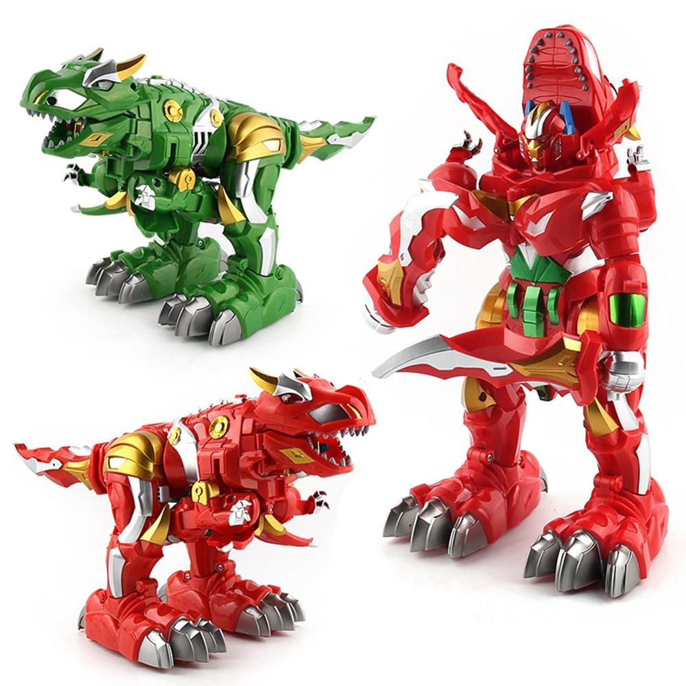 Creative Children's Remote Control Toy Deformation Dinosaur Remote Control Robot Infrared Rc Pet Toys Deformation Robot