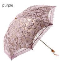 Бесплатная доставка эстетизм кружевной зонтик двойной виниловый Зонт Солнечный Дождей Зонтик MS Свадебная мода складной зонт 1