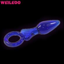 Стекло Анальная пробка Анальный фаллоимитатор анальный плагин стекло «секс-игрушки для взрослых для мужчин женщина