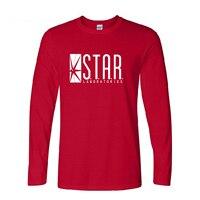 Superman Series O Neck T Shirt Men STAR S T A R Labs The Flash Gotham