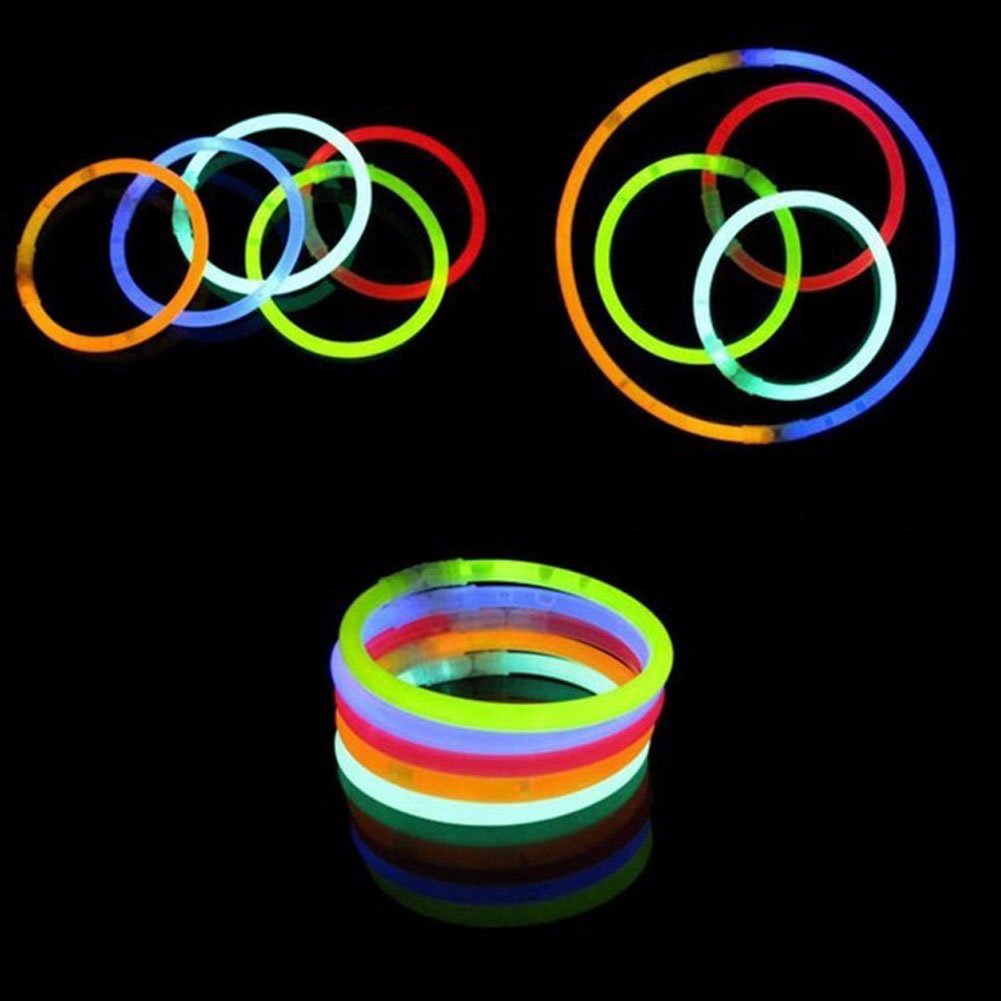 10Pcs/Set Funny Glow Fluorescence Light Sticks Bracelets Necklaces Neon For Children Luminous LED Toys