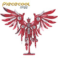 Thundering Wings Gundam Robot P069-RS DIY Piececool 3D laser cutting Jigsaw puzzle DIY Metal model Nano Puzzle Toys for Children