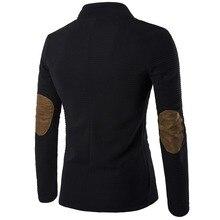 Брендовая одежда повседневные блейзеры мужские модные деловые приталенные костюмы пиджак мужской блейзер Пальто с пуговицами, костюм размера плюс