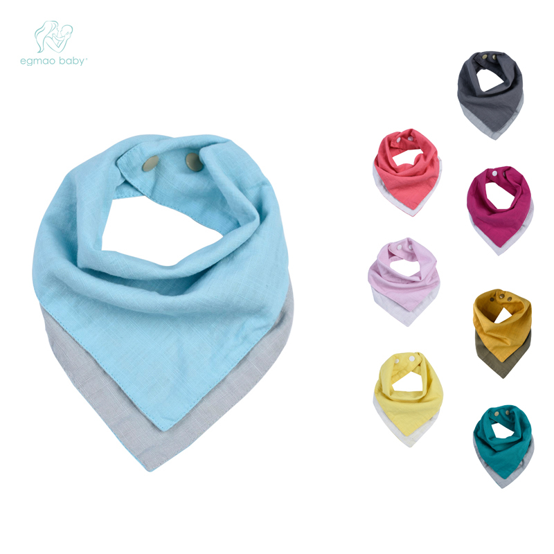 Baby Accessories Newborn Baby Bandana Bibs Soft Toddler Triangle Scarf Double-sided material, two color square design, multiple color block geometric bandana scarf