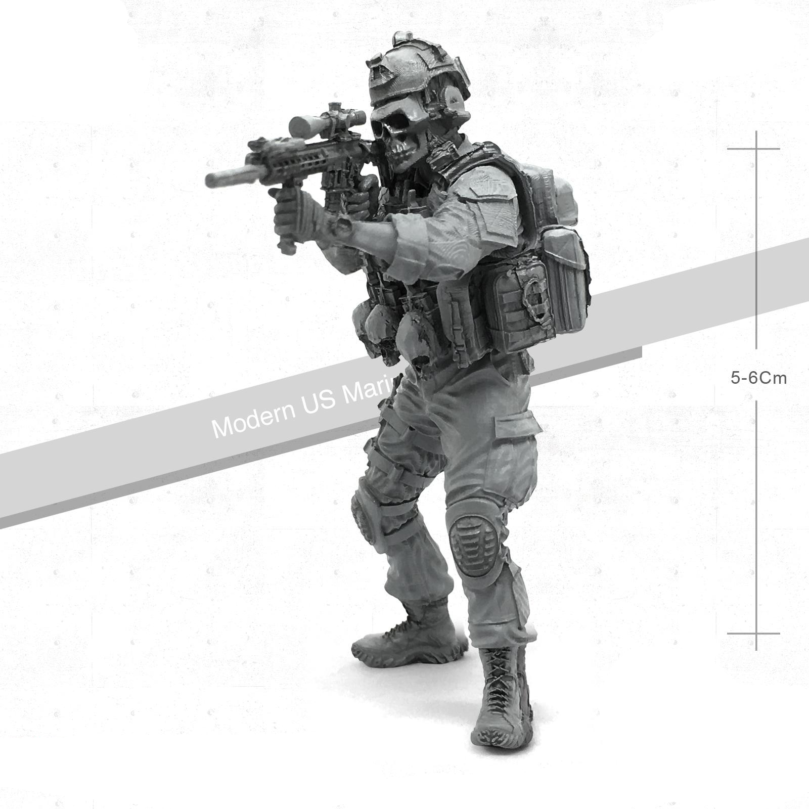 1 / 35 Resin Soldier Model For Members Of Skeleton Squadron Of U.s Special Forces Tlp - 05