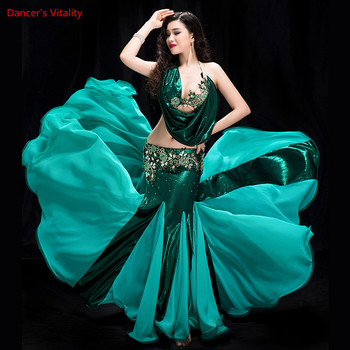 Women 2 piece of Performance Belly Dancing Show in Costume Bra+fish Tail skirt Dance Cothing dance competition Dress - discount item  15% OFF Stage & Dance Wear
