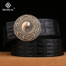 BIGDEAL 2018 New Men Belt Genuine Leather Male Belts Vintage Buckle Leather Belt Waistband For Men Christmas New Year Gift