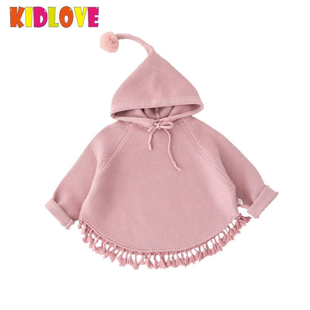 31e3c202d3d Image KIDLOVE Children s Girls Hooded Knitted Sweater Toddler Kids Cute  Tassels Long Sleeve Autumn Winter