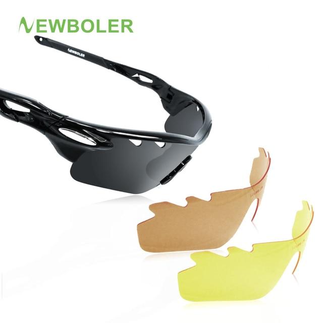 c0d61e79e5 NEWBOLER Men Fishing Sunglasses Women Polarized 3 Lense Brown Fishing  Eyewear Hiking Climbing Eyewear Outdoors Sport