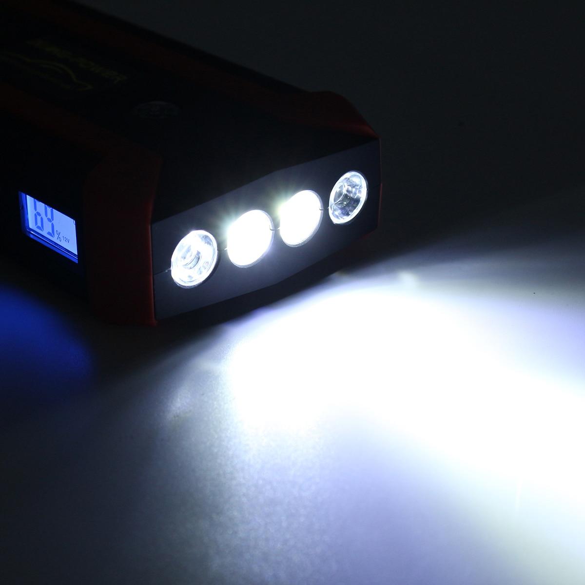 Démarreur de Saut De voiture 600A 89800 mAh Multifonction Chargeur De Voiture Démarreur de Saut De Batterie 4USB lumière LED Automatique Portable De Secours de batterie externe - 3