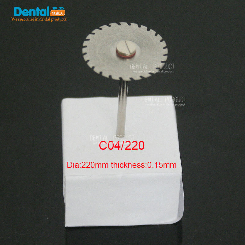 Купить с кэшбэком 6 pcs Dental thin Ultra-thin double sided sand diamond cutting disc with mandrel for separating polishing ceramic crwon and jade