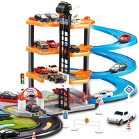 3D Car Racing Track Toys Car Parking Lot Assemble Railway Rail Car Toy DIY Slot Model Toys For Kids Children Birthday