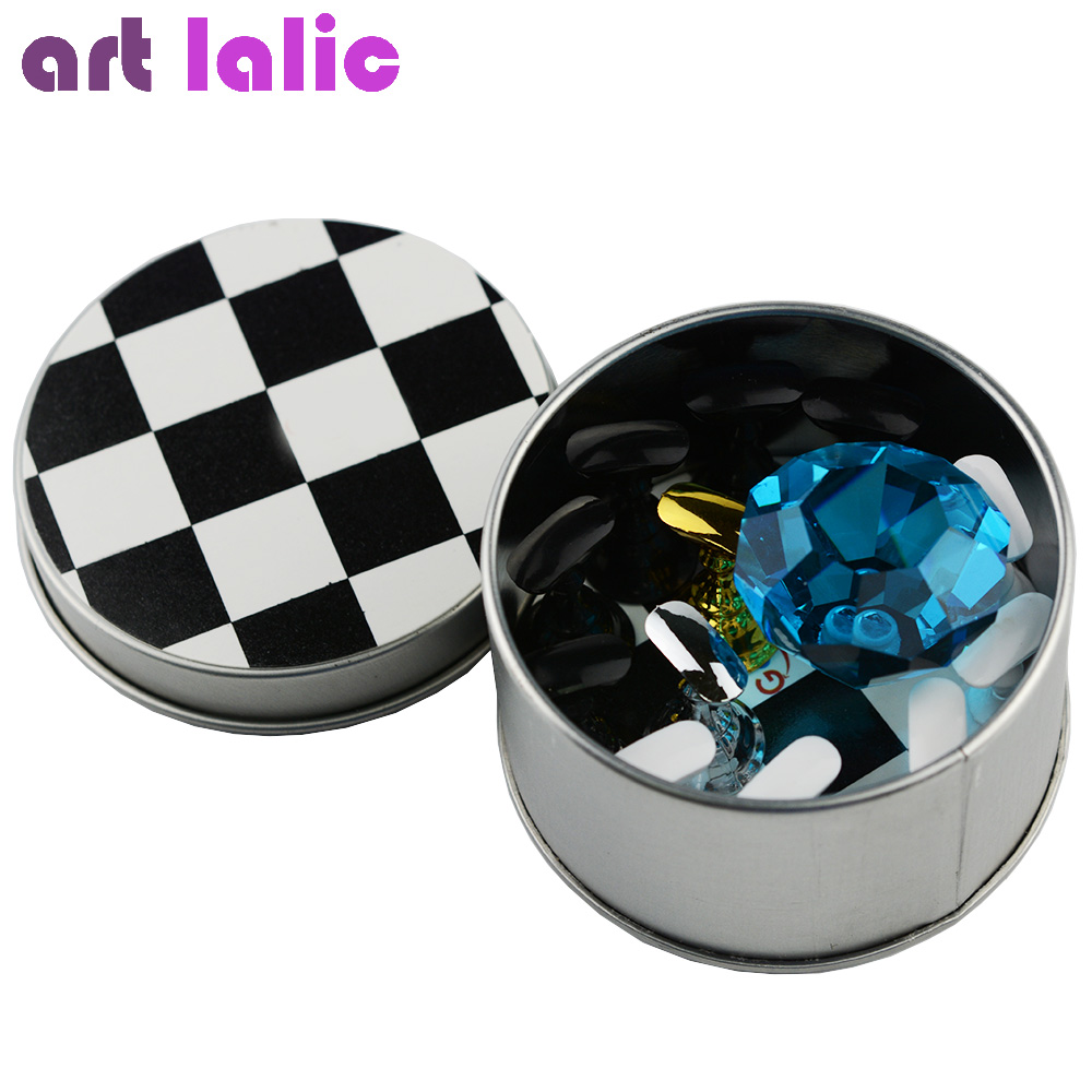 цены Nail Art Chess Board Magnetic Nail Tip Crystal Stand 10 Pcs Set Luxury Salon Display Holder Tools