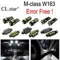 17 pc X 100% Livre De Erros LED interior dome lâmpada luz Kit pacote Para Mercedes Benz classe M W163 ML350 ML430 ML500 (1998-2005)