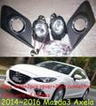 car-styling,Mazd3 Axela halogen light,2014~2016,Free ship!2pcs,Mazd3 Axela fog light;car-covers,Mazd3 Axela headlight;Mazd 3