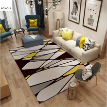AOVOLL Nordic Soft Large Carpets For Living Room Bedroom Kid Room Rugs Home Carpet Floor Door Mat Delicate Fashion Area Rug Mats yoosa fashion abstract delicate area rug soft large carpets for living room bedroom kids room rugs home carpet floor door mat