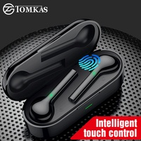 TOMKAS Mini TWS Bluetooth Wireless Earphone Headphones Freebud Touch Control Sport Headset With Dual Microphone For Mobile Phone