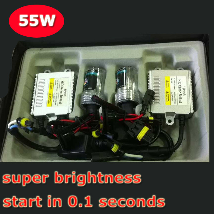 ФОТО wholesale fast start hid kit auto headlamp quickly start in 1 second hid xenon kit 12v 55w AC car headlight H1 H3 H7 MOQ: 20sets