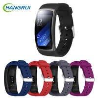 Correas de reloj de silicona Hangrui para Samsung Gear Fit 2 Pro pulsera de correa de reloj para Samsung Fit 2 reemplazo de reloj inteligente