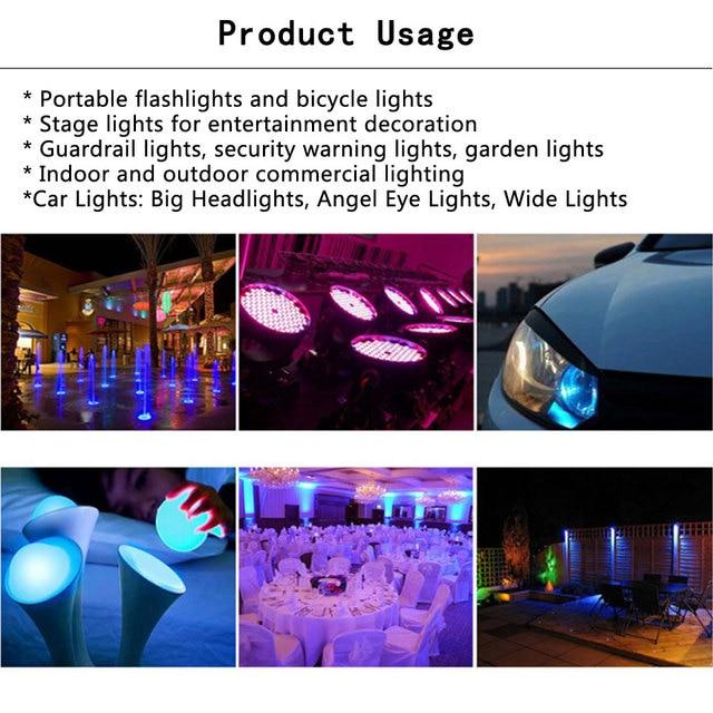 3W 4W 5W 6W 15W 18W rvb RGBW RGBWY RGBWYV haute puissance LED 4pin 6pin 8pin 10pin 12pin coloré bricolage moulage LED scène lumières Source