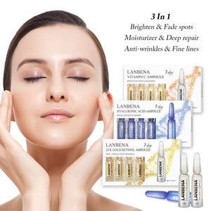 Image 1 - Lanbena顔アンプル血清レチノール + Q10 + ヒアルロン酸 + ビタミンc + アンチエイジングむくみしわ保湿血清スキンケア