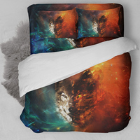 Wolf Bedding Set Twin Full Queen King Single Double Size Animal Duvet Cover Pillow Cases Star Bed Linen Set 3D Bedclothes 3pcs