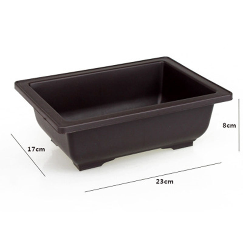 1PC Flower Pot Imitation Plastic Balcony Square Pots Flower Bonsai Bowl Nursery Basin Planter Imitation Rectangle