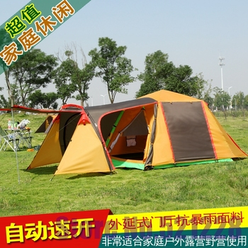August 3-4 family outdoor genuine people camping camping Yishiyiting anti storm automatic open tent otomatik çadır