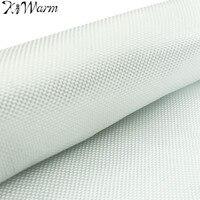 KiWarm White Fiberglass Cloth Woven Roving Cloth Glass Fiber Plain Weave Quilting Fabric Tools DIY Material