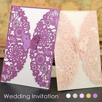 Wedding Cards Invitation Delicate Carved Butterfly Wedding Birthday Party Cards Invitation Cards Paper Supplies