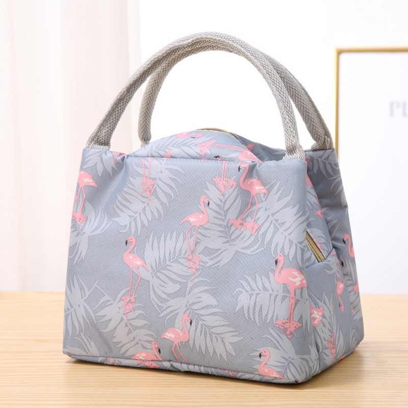 MoneRffi 2019 Thickened Bento Bag Waterproof Women's Bag With Rice Insulation Tote Bag Large Stripes Thermal Insulated Lunch Bag