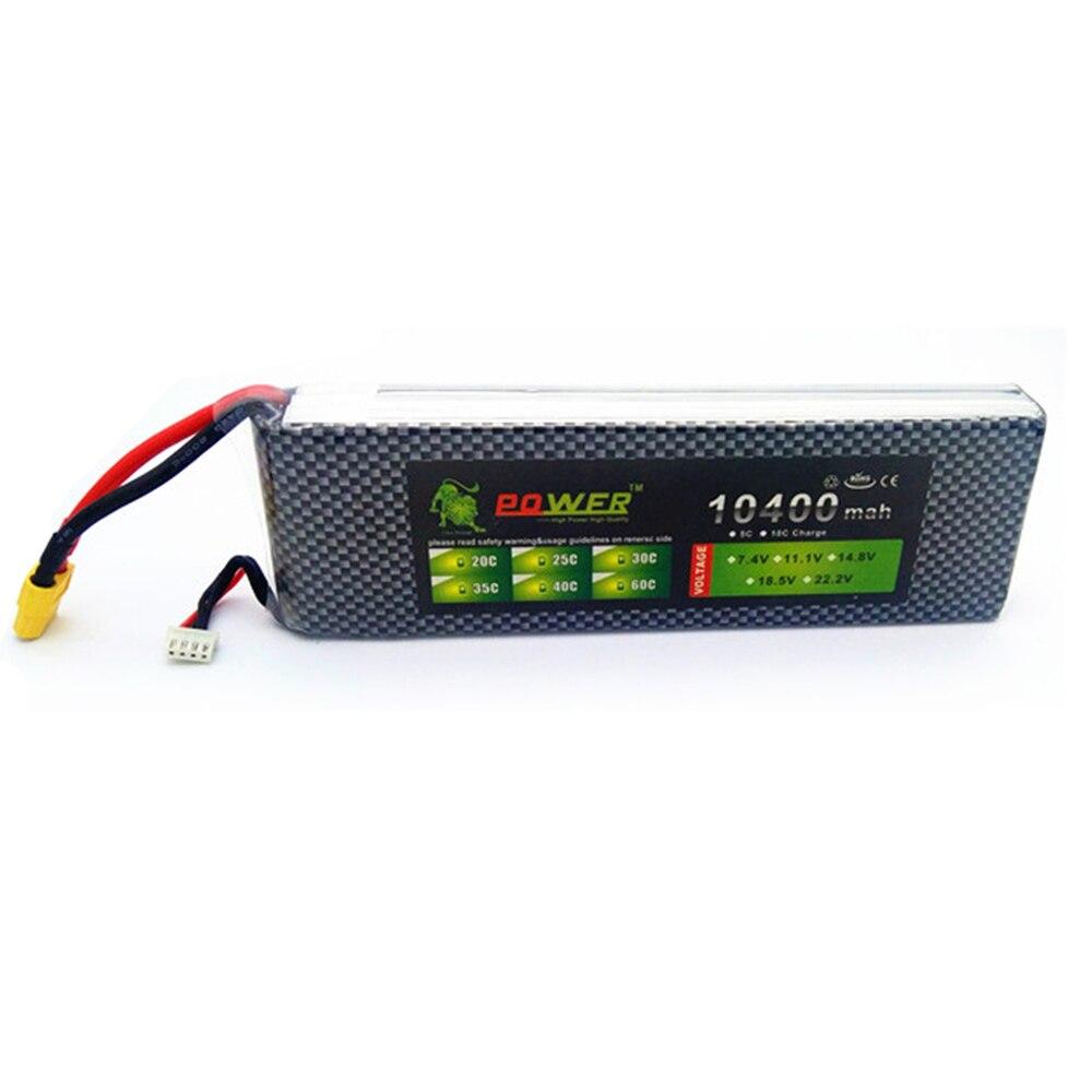 Ultra-haute capacité Lion Power 3 S 11.1 V 10400 mAh 10000 mAh Lipo batterie 30c à 40c T/XT60 prise pour pièces de Quodcopter de voiture de bateau