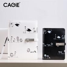 Cagie 2016 Custom Creative тенденции Black / White Painting Notebook A5 Spiral Business Planner Ежедневные заметки Cute Composition Book