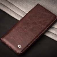 For Samsung Galaxy S7 S7 Edge Case Qialino Genuine Leather Business Style Flip Wallet Ultra Thin