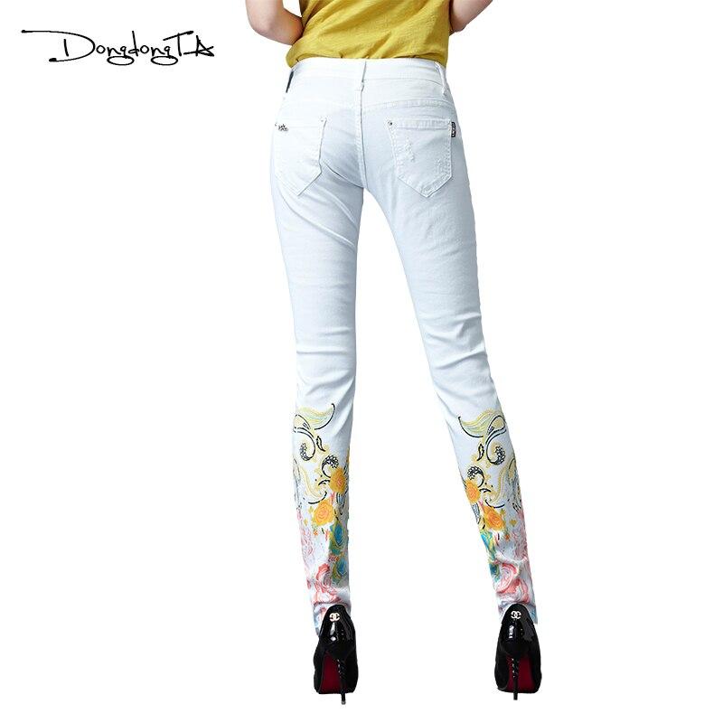 Dongdongta Kvinder Piger Hvid farve Jeans 2017 Nyt design Sommer - Dametøj - Foto 2