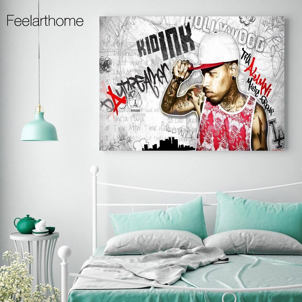 online get cheap popular pop art aliexpress com alibaba group 1 piece canvas painting pop art kid ink popular rapper singer canvas painting wall decorations living