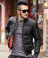 2016 nueva Marca Chaqueta de invierno caliente para los hombres Sólidos de Vuelo Bombardero negro chaqueta casual para hombre grueso abrigo masculino de algodón acolchado prendas de vestir exteriores
